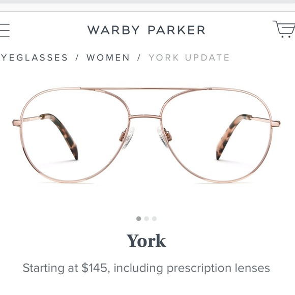 Warby Parker Accessories | Rose Gold York Non Prescription Frame ...